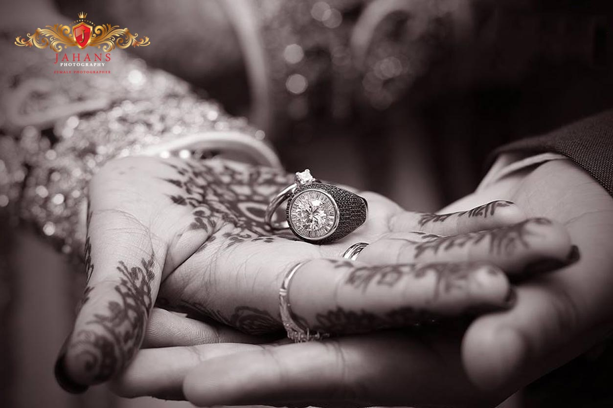 asian muslim couple weddings rings